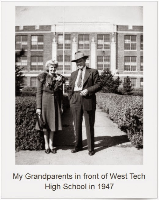 julia and alexander nagy at west tech high school 1947