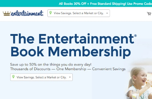 Entertainment Coupon Books 30% Off Promo Code