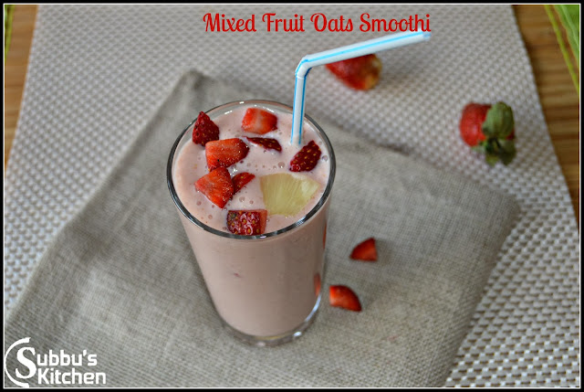 Mixed Fruits Oats Smoothie