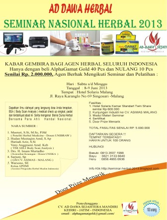 AD-DAWA HERBAL GATHERING NASIONAL 2013