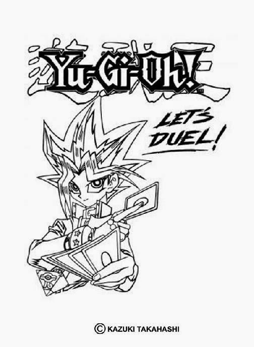 Yu Gi Oh Coloring Pages Free