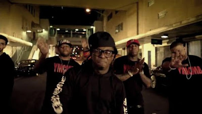 Foto do Lil Wayne no clipe I'm On One