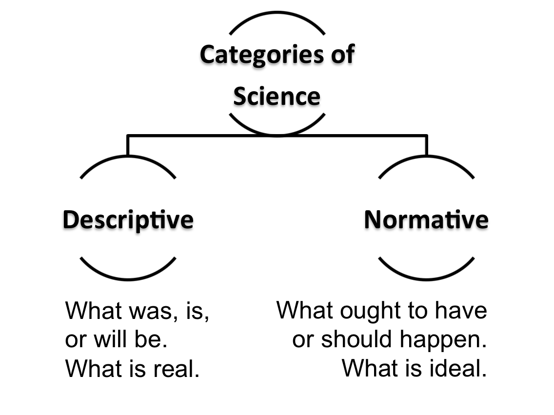 normative and descriptive approaches The field of ethics is usually broken down into three different ways of thinking about ethics: descriptive, normative and analytic.
