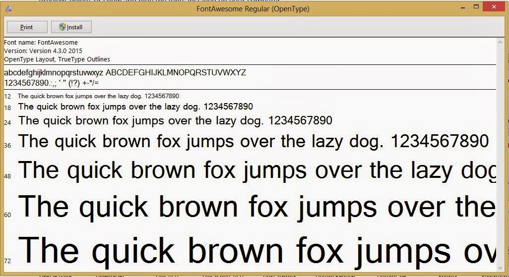 Cara Install Font Baru Font Awesome di Komputer dengan sistem operasi Windows