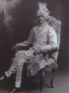 Jitendra Narayan Bhup Bahadur, Maharaja of Cooch Behar photographed by Lafayette in 1913 shortly after his accession. Members of the Cooch Behar as family were frequent visitors to Garrard in London and Chaumet in Paris.