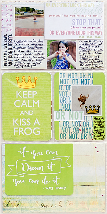 Heather Greenwood | Project Life 2014 - Week 27 insert | vacation | On Cherry Street Magical kit