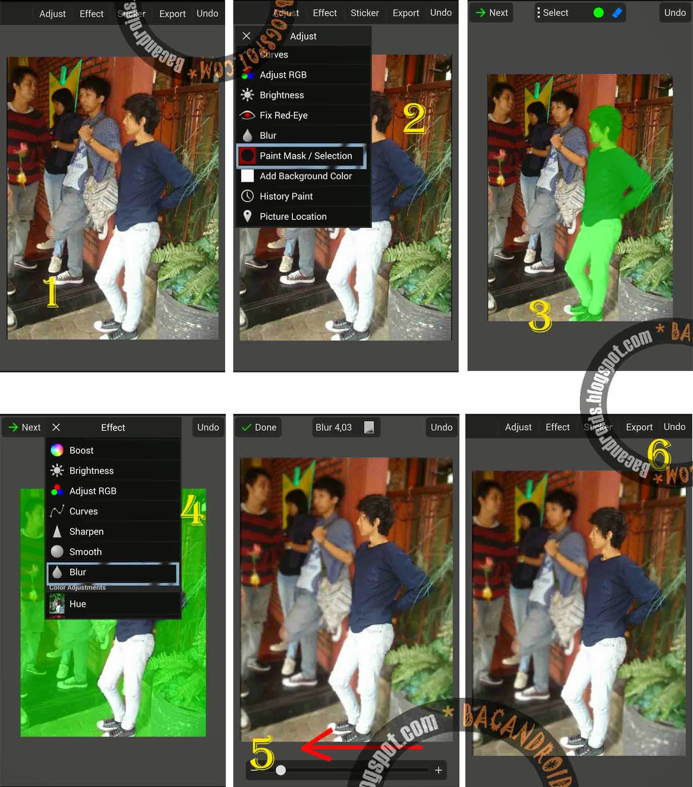 Tutorial Edit Foto Kamera DSLR dengan PicSay Pro Android