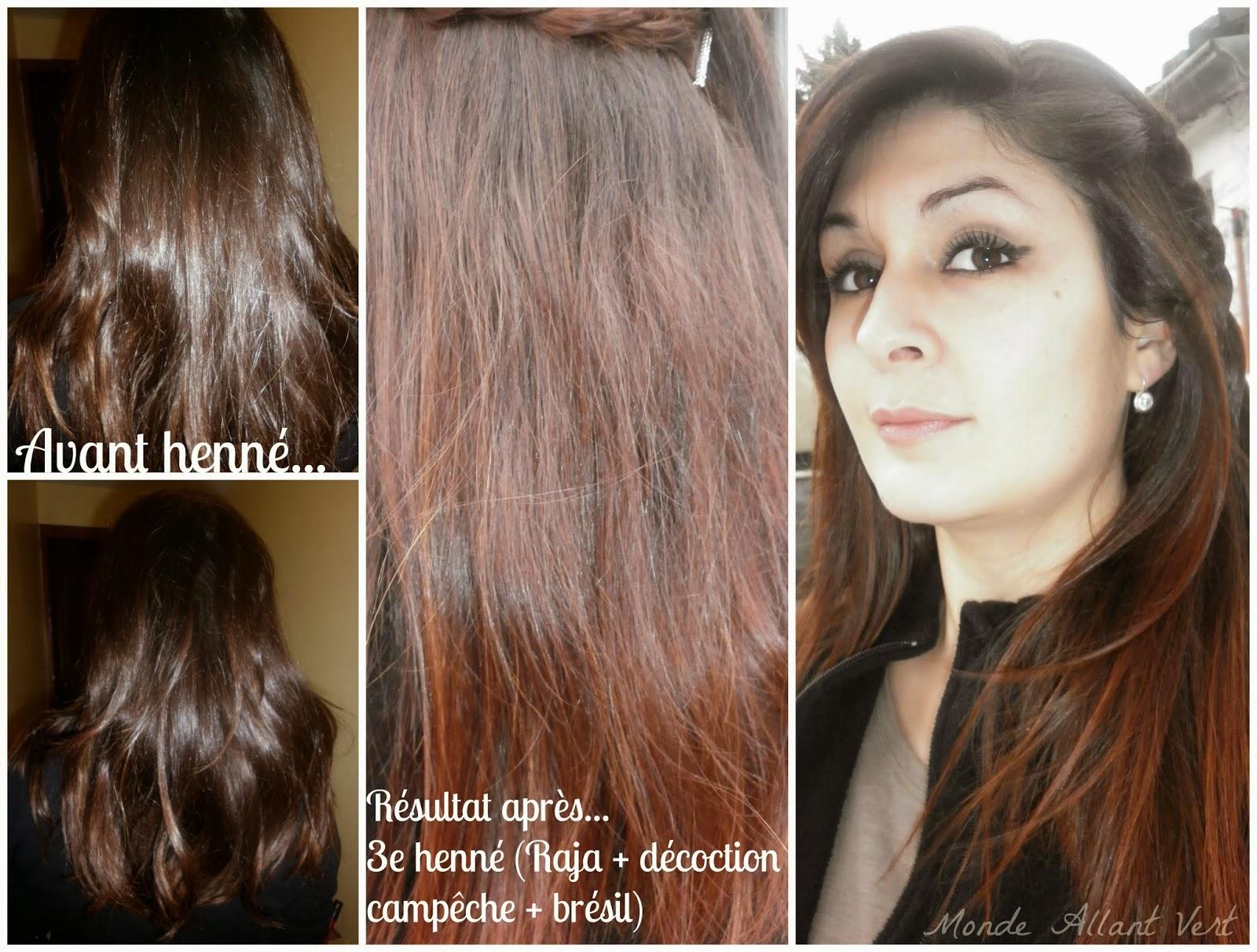 on obtient le rsultat dfinitif du henn aprs 4 jours car celui ci soxyde et sintensifie aprs lapplication il est conseill de se laver les cheveux - Coloration Cheveux Henn