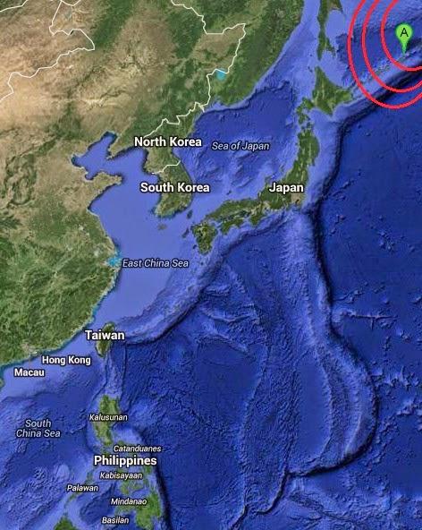 Magnituae 4.6 Earthquake of Nikol'skoye, Russia 2014-09-08