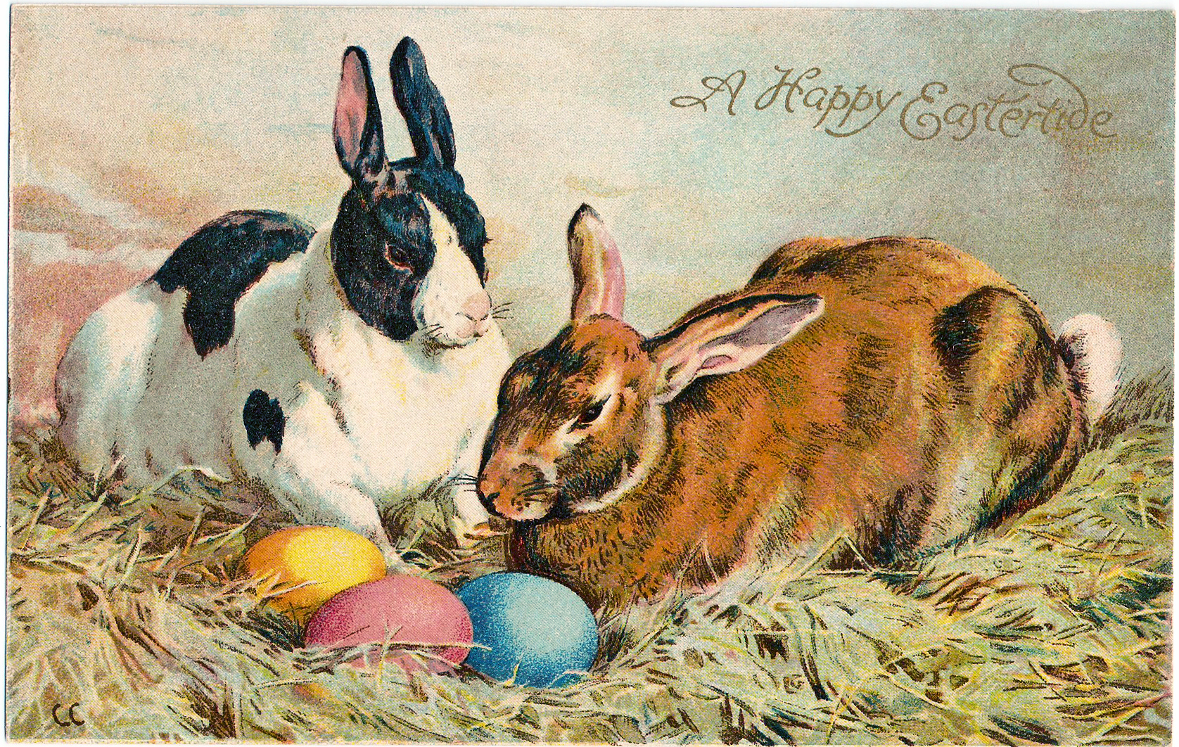 vintage easter bunny - photo #39