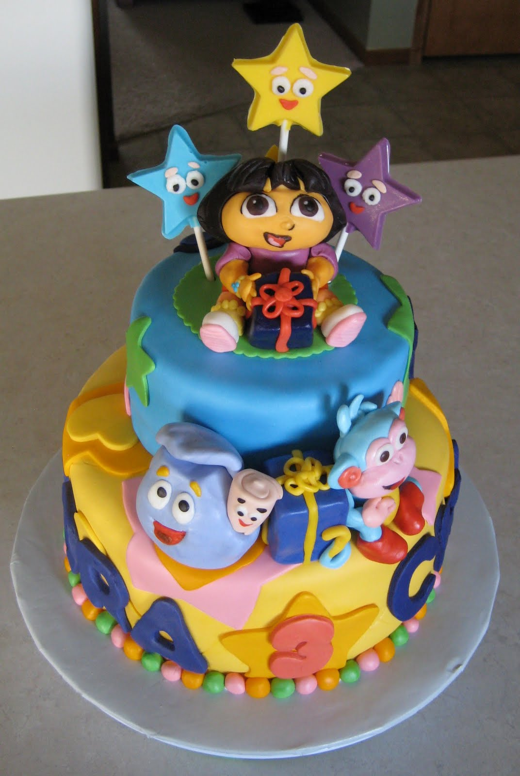 Dora 2 year old birthday cake Beautiful cakes photo blog