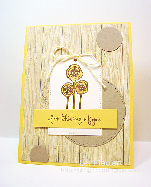 I'm Thinking of You card-designed by Lori Tecler/Inking Aloud-stamps from Verve