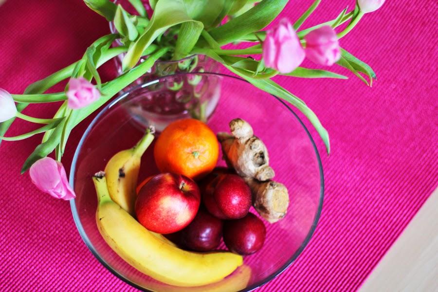 banane apfel orange tulpe