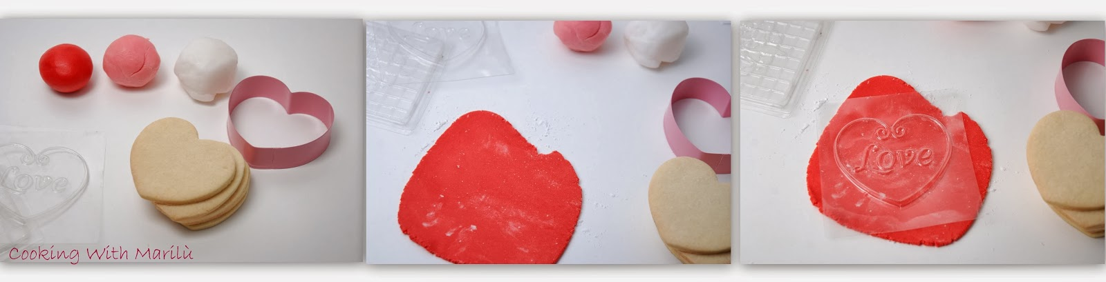 biscotti pasta frolla decorati di San Valentino