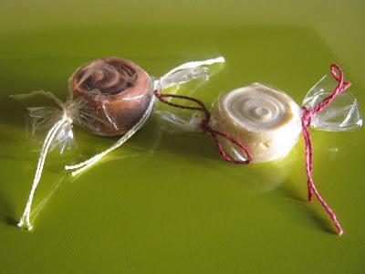 Detalle bombones de jabón