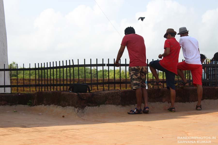 Tourists in Fort Aguada
