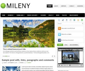 Mileny Blogger Template