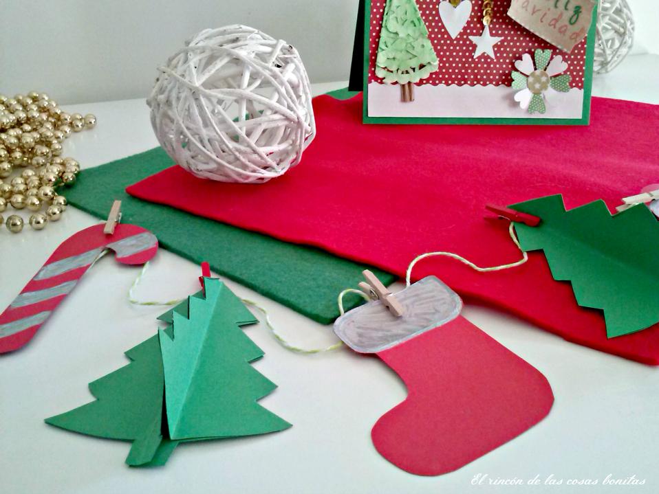 Un guirnalda navide a handbox craft lovers comunidad - Adornos de navidad hechos a mano por ninos ...