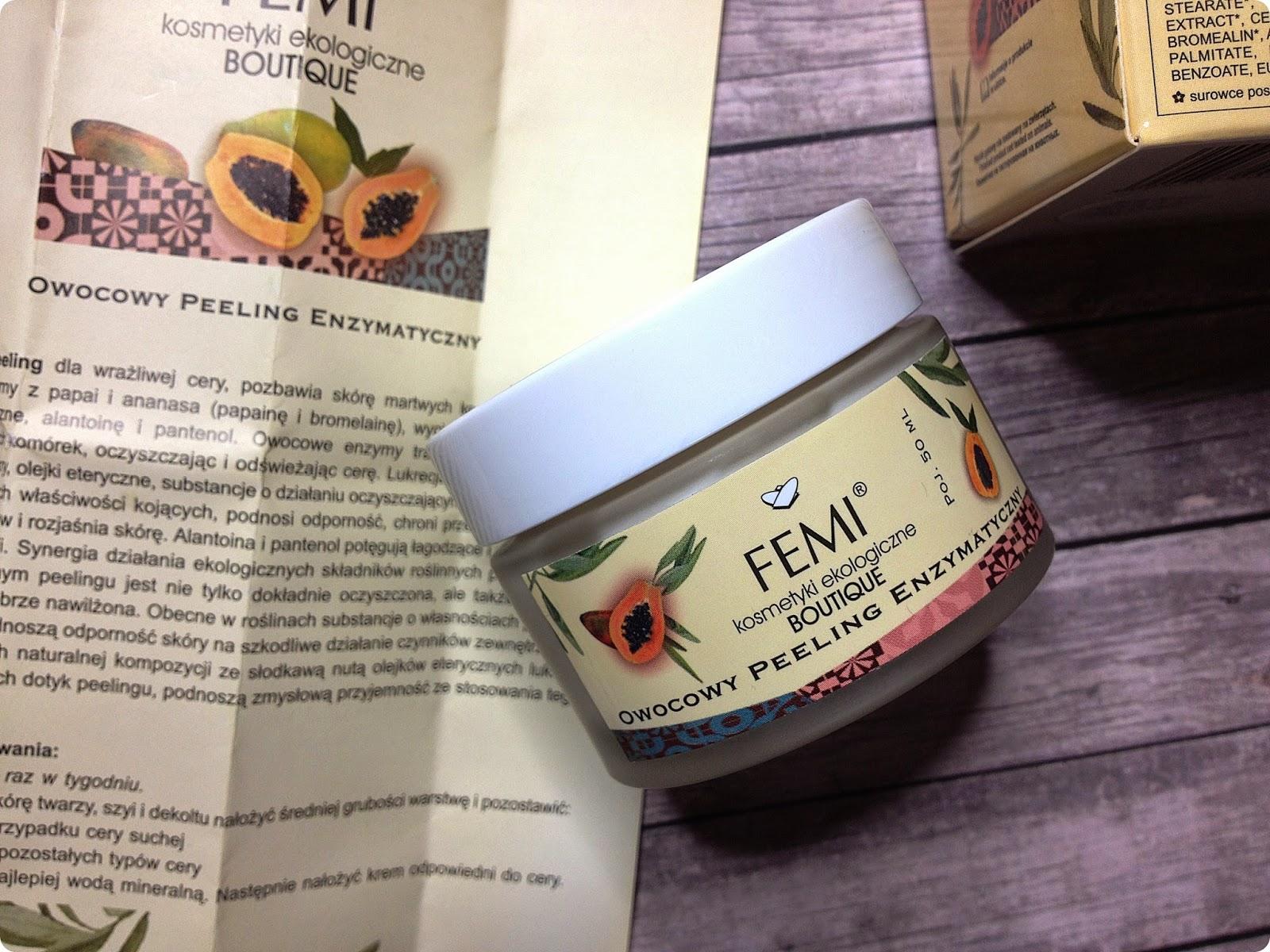 Owocowy peeling enzymatyczny, Femi