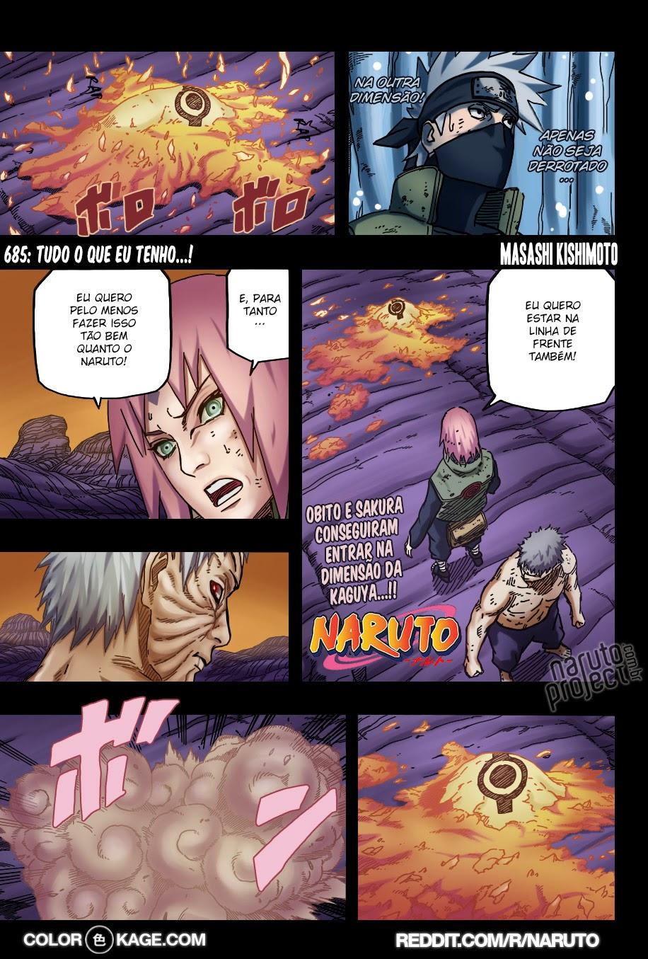 Naruto 685 Mangá Colorido