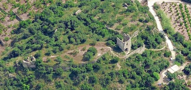 Vista aèria castell del Rebollet
