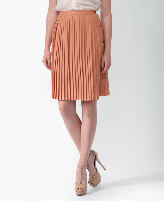 220 ber chic for cheap spied pleated buttoned midi skirt