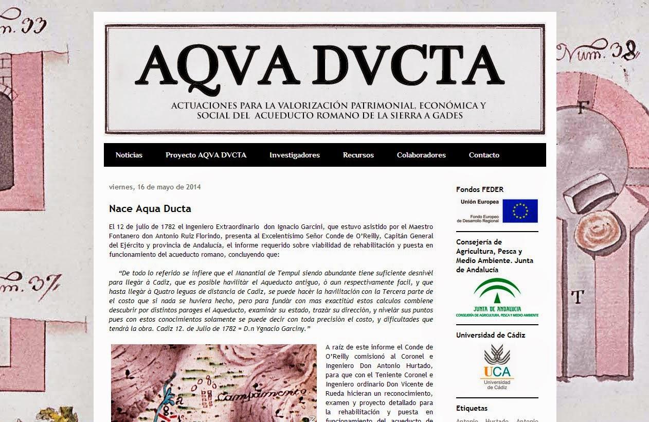 Blog del proyecto Aqua Ducta