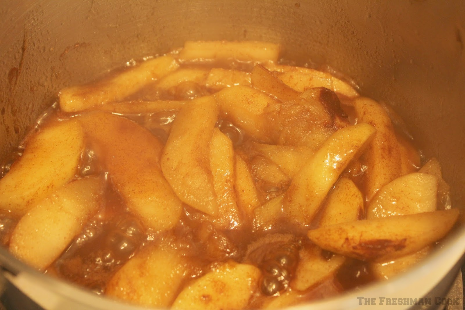 sauteed apples cooking