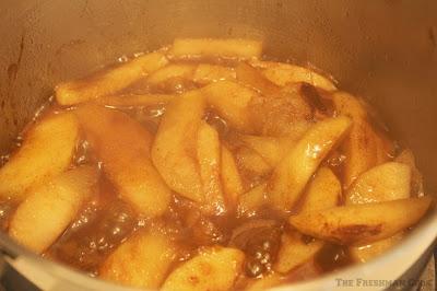 dark brown sugar, cinnamon, butter, granny smith apples