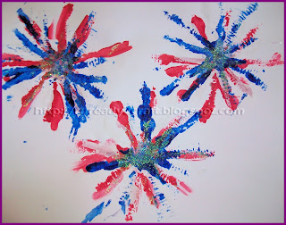 pipe cleaner painted craft 4th of July fireworks