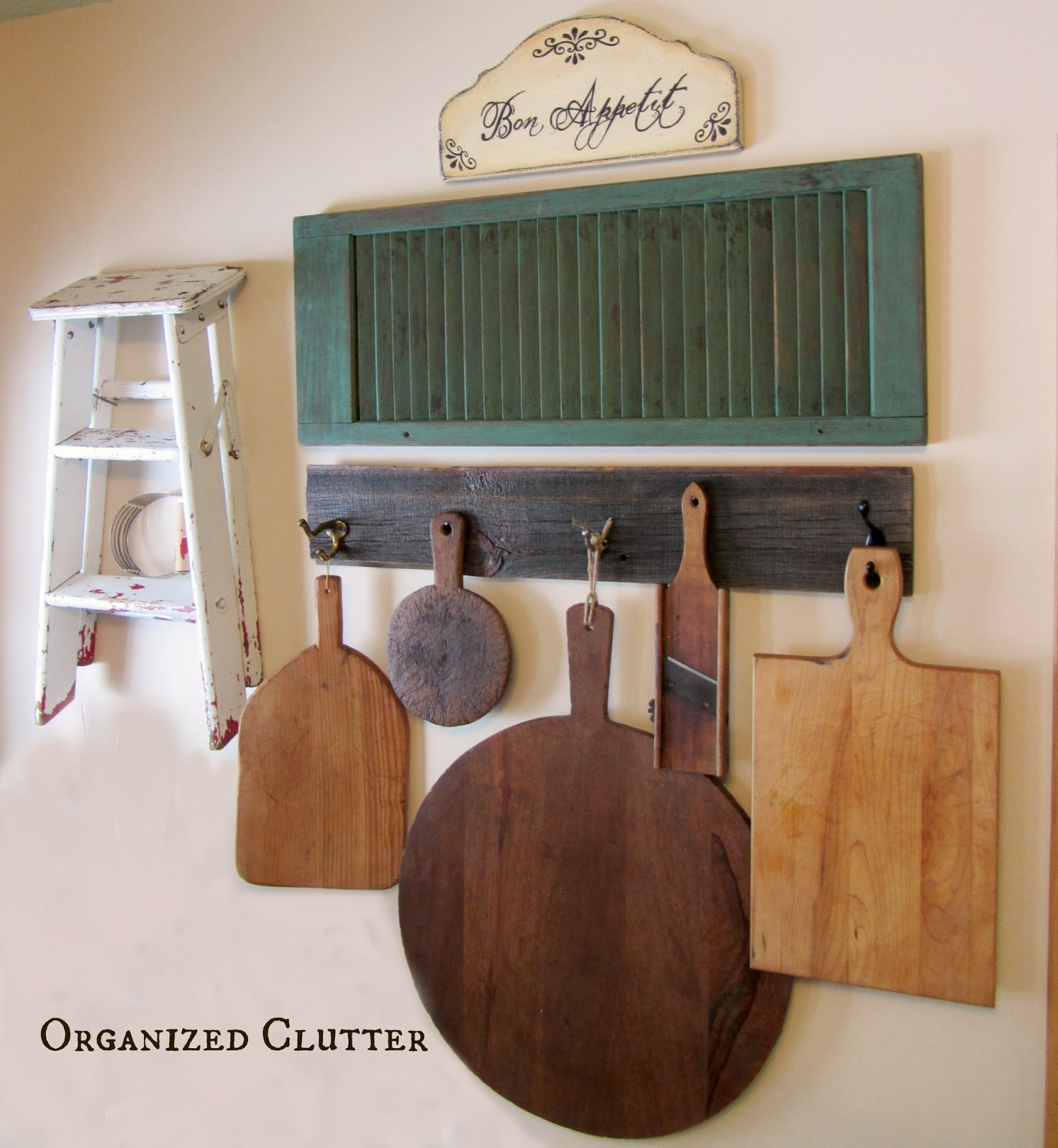 A New Kitchen Wall Display Organized Clutter