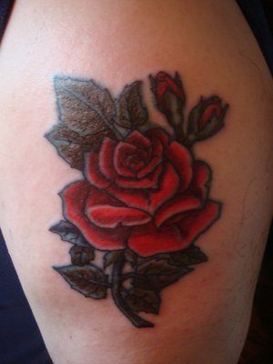 Girl Rose Tattoos Designs