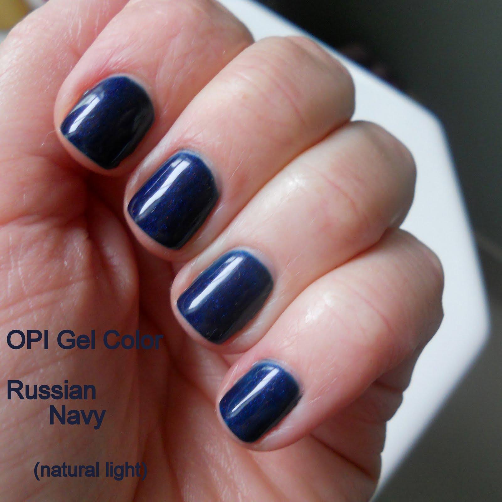 SMITTEN...in cleveland: OPI Gel Polish - Russian Navy