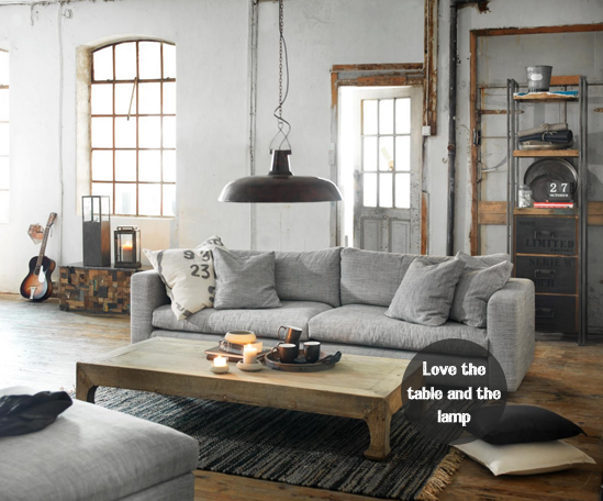 Living room on pinterest industrial living rooms for Industrial chic living room