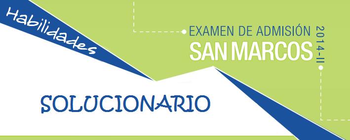 Examen Admisión San Marcos UNMSM 2014-II Preguntas de Aptitud Verbal
