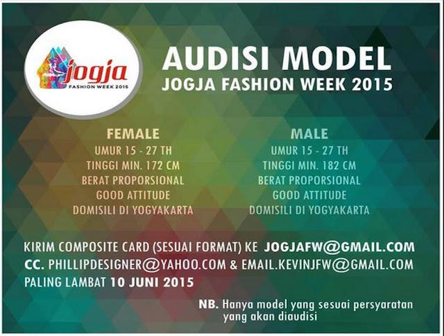 Audisi Model Jogja Fashion Week 2015