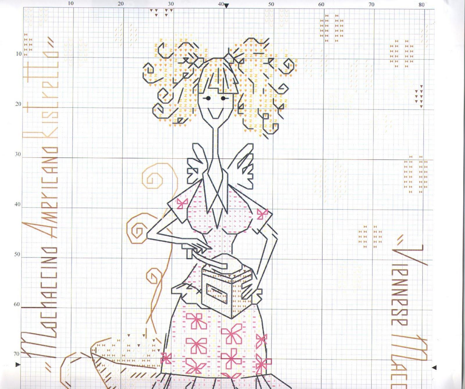 схема вышивки крестом фея осени