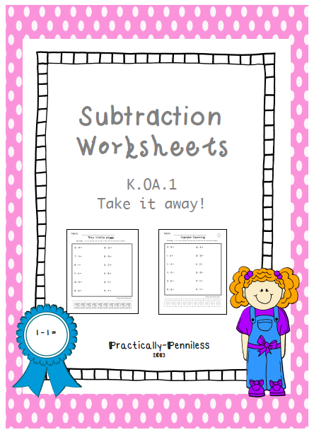 http://www.teacherspayteachers.com/Product/Subtraction-subtraction-subtraction-1026651