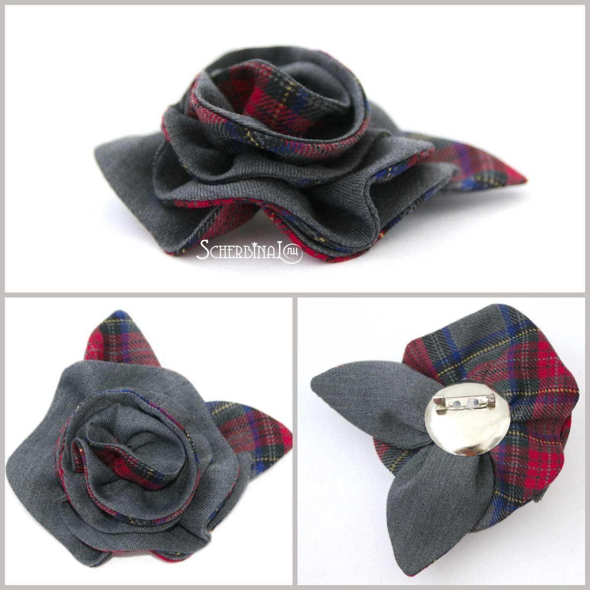текстильная брошь, подарок учительнице