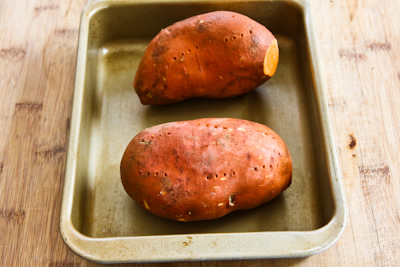 Twice-Baked Sweet Potatoes Recipe with Feta and Sumac (Gluten-Free, Meatless) found on KalynsKitchen.com