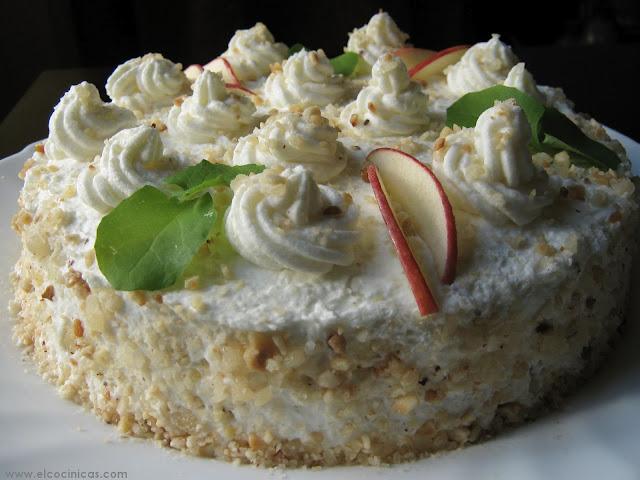 Tarta de manzana y nata