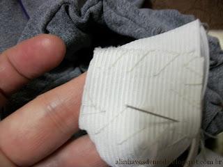 Faça você mesma: coloque um elástico largo no cós!