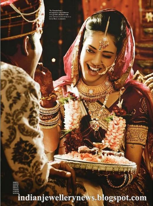 Wearing A Navrathran Haar