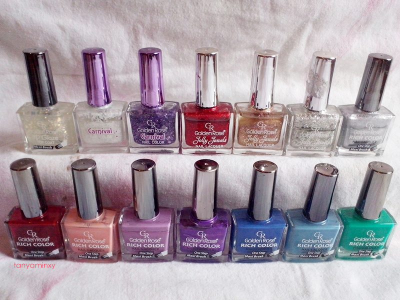 "tanyaminxy ""10 polish or more"" - My favorite nail polish brand Golden Rose"