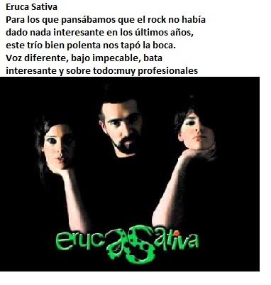 Eruca Sativa, rock puro, Argentina