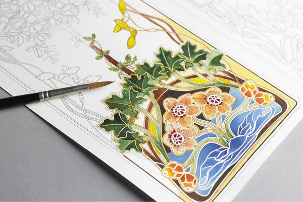 collagepdx: Watercolor Coloring Books