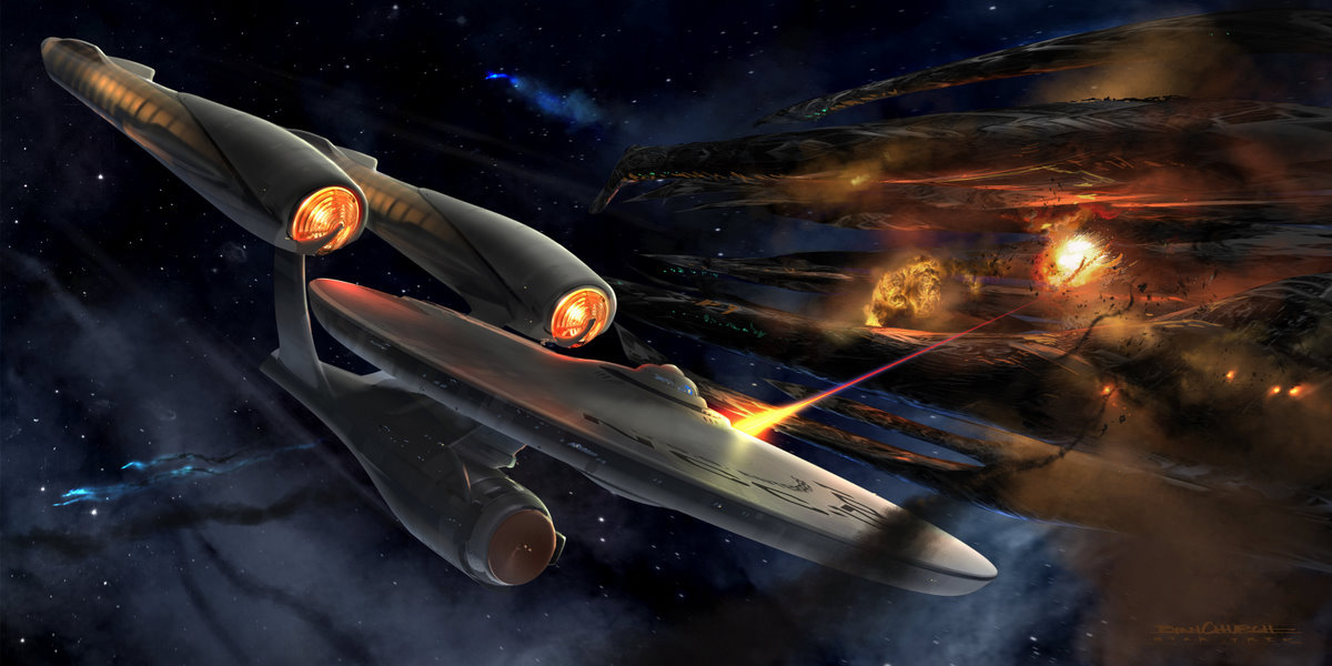 Fly Star Trek 2009 Enterprise Concept Art By Ryan Church