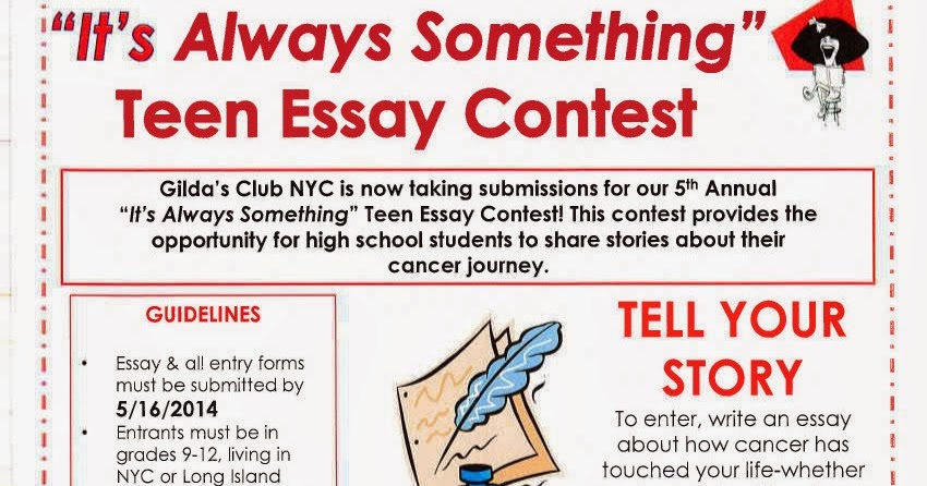 essay writing contests for teens Find writing contests for teens, including essay contests, poetry contests, short story contests, contests for scholarships and so much more, listed below you can win money, trips, recognition, and lots of other cool prizes.