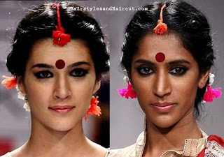 new hairstyles for durga puja
