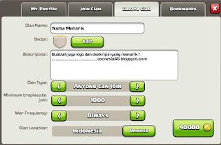 Tips Sebelum Membuat Clan di COC